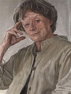 A detail from James Lloyd's portrait of Dame Maggie Smith