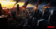 Destroyed city, Emiliano Cordoba on ArtStation at…