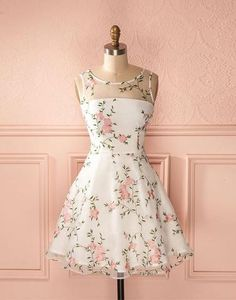 junior A-line round neck flower appliques short homecoming dress Homecoming Dress, Short Homecoming Dresses, A-Line Homecoming Dresses, Appliques Homecoming Dresses Short Homecoming Dresses Pretty Outfits, Pretty Dresses, Beautiful Dresses, Casual Dresses, Fashion Dresses, Floral Dresses, Floral Homecoming Dresses, Dress Prom, Short Floral Dress