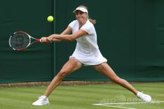 テニス、ウィンブルドン選手権(The Championships Wimbledon 2014)女子シングルス1回戦。リターンを打つエカテリーナ・マカロバ(Ekaterina Makarova、2014年6月23日撮影)。(c)AFP/ANDREW COWIE ▼24Jun2014AFP|クルム伊達はフルセットで初戦敗退、ウィンブルドン選手権 http://www.afpbb.com/articles/-/3018546 #Ekaterina_Makarova #The_Championships_Wimbledon_2014