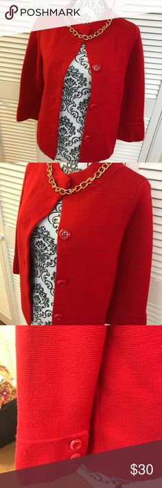 J. Crew Wool Cardigan New without tags  Size medium  Red in color  100% wool J. Crew Jackets & Coats