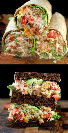 "Loaded Chicken Salad with Garlic Greek Yogurt Ranch ""Mayo"" aka Crack Chicken Salad."
