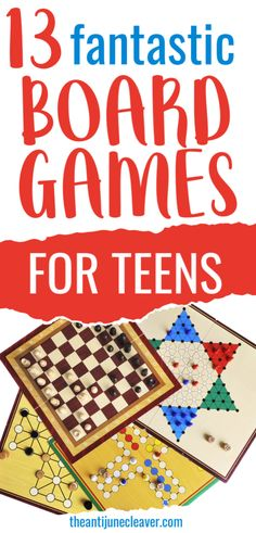 13 fantastic board games for teens that will have them asking for family game night #boardgames #boardgamesforteens #gamesforteens #familygamenight #theantijunecleaver @reganajc