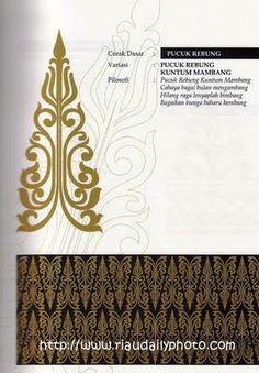 MOTIF PUCUK REBUNG (Melayu Riau) Motif Design, Pattern Design, Motif Vector, Spongebob Background, Bow Art, Decorative Lines, Batik Art, Batik Pattern, Concept Weapons