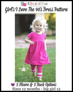 Dress Pattern (kid's) – Ellie and Mac Kids Dress Patterns, Pdf Sewing Patterns, Clothing Patterns, Baby Patterns, Ellie And Mac, Kids Photography Boys, Bodice Pattern, Sewing For Kids, Sewing Projects