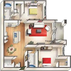 2 Bath floor plan for Arbor Landing ! Split floor plan is great for some privacy. Bedroom Floor Plans, Two Bedroom, Tallahassee Apartments, Lake Jackson, Huge Closet, The Perfect Dog, Garden Tub, Gated Community, Rental Apartments