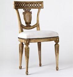 Tara Shaw Maison Italian Monogram Side Chair