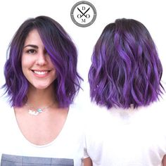 best haircut for thick hair - Hair Styles Haircuts For Medium Hair, Haircut For Thick Hair, Medium Hair Cuts, Layered Haircuts, Medium Hair Styles, Short Hair Styles, Short Purple Hair, Hair Color Purple, Ombre Hair Color For Brunettes