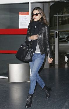 Pin if you love Alessandra Ambrosio in this Anine Bing moto jacket