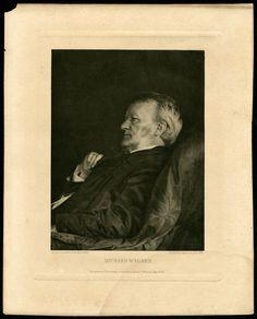 Richard Wagner (1813-1883), photogravure (1883), by Friedrich Bruckmann (1814-1898), from a photograph by Adolf von Gross (1845-1931).