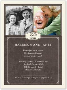 hallmark 50th anniversary invitations