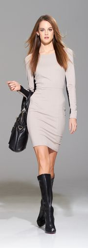 classic chic dress to pair with Hat-a-Tude Grey Fedora with Black trim...oh, la la!
