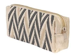 Ashoka Black + Taupe Braid Print Organic Cotton Make-Up Bag || Fair Trade Organic Cotton Make-Up Bag. $22.00. Bottom can be expanded to flatten out, allowing the bag to sit w/o support or folded down to a compact size. Can double as a clutch.