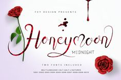 Do you love calligraphy typeface? Today we have for you Honey Moon Midnight Font Free Download which is great for design, element design, wedding, badges, sticker, event, t-shirt, logo and awesome work, etc. This is a modern and beautiful hand-lettered calligraphy with dancing characters and irregular baseline that is ideal for your next project. Grab it right now! It's totally FREE!