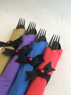 Descendants Party Flatware: Descendants Party Inspired Cutlery, Mal, Evie, Jay and Carlos Silverware