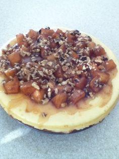 Sweet & Savory Tastings..Brandy Caramel Apple Mascarpone cheesecake