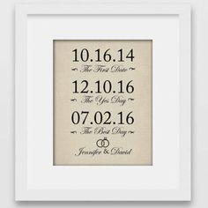 The Best Day Wedding Gift Print