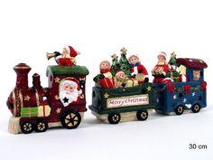 tren navideño decorativo de porcelana - Buscar con Google