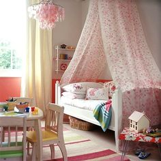 always wanted a canopy over my bed when I was a little girl...never got one...if I have a little girl I am making sure she does :)