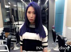 彰化 INN salon - Edison  Hair color 染髮:藍紫色。  為你打造專屬個人風格造型 ☎️04-7282820