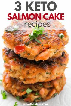 If you're on the lookout for easy keto salmon cake recipes, don't look any further! These are three of the best and simplest ways to enjoy your favorite fish meal! #keto #ketogenic #ketorecipes #growtheideas