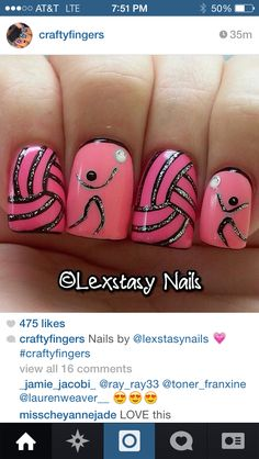 @sparkliy517 u would love these volleyball nails