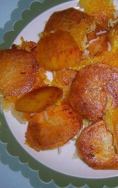 Tahdig Sibzamini -- (Potatoes at the bottom of the pan!!)