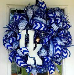 University of Kentucky deco mesh wreath https://www.etsy.com/listing/239429295/university-of-kentucky-deco-mesh-wreath