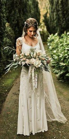 Bohemian Wedding Dress Ideas You Are Looking For ❤︎ Wedding planning ideas &. Bohemian Wedding Dress Ideas You Are Looking For ❤︎ Wedding planning ideas & inspiration. Wedding dresses, decor, and lots more. Wedding Dress Silk, Western Wedding Dresses, Elegant Wedding Gowns, Bohemian Wedding Dresses, Perfect Wedding Dress, White Wedding Dresses, Bridal Dresses, Woodland Wedding Dress, Off Shoulder Wedding Dress Bohemian