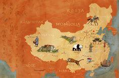 China map by Adam Pękalski