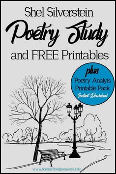 This Shel Silverstein Poetry Study (plus FREE printables and Poetry Analysis Pack) can help you bring his poetry to life for you kids. Teaching Poetry, Teaching Language Arts, Teaching Reading, Learning, Poetry Unit, Writing Poetry, Shel Silverstein Poems, Poetry Lessons, Math Lessons
