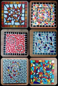 Cosas lindas de mosaico Mosaic Stepping Stones, Stone Mosaic, Mosaic Glass, Glass Art, Mosaic Tray, Mosaic Tile Art, Mosaic Art Projects, Mosaic Crafts, Mosaic Designs