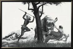Magazine Illustration, Illustration Art, Man Vs Nature, Camel Animal, The Poseidon Adventure, Warriors Pictures, Adventure Magazine, Hunting Art, Male Magazine
