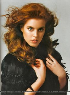 Princess Beatrice - she looks like the red-headed royals like Queen Elizabeth I