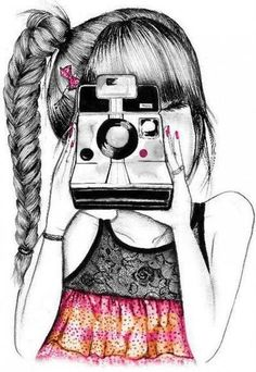 Illustration - illustration - www. illustration : – Picture : – Description www.creativeboysc… -Read More – Amazing Drawings, Beautiful Drawings, Cool Drawings, Amazing Art, Awesome, Illustrations, Illustration Art, Photography Illustration, Girls With Cameras