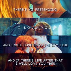 clace + tmi quote Clary And Jace, Clary Fray, Shadowhunters Series, Shadowhunters The Mortal Instruments, Clace, The Dark Artifices, City Of Bones, The Infernal Devices, The Fault In Our Stars