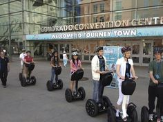 Denver Segway tours.  Oh how I want to zip around Denver like this!  Nerdily awesome!