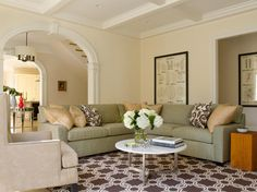 New Jersey Transitional Family Room by Bruce Norman Long