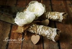 Personalized / Rustic / Wedding / Burlap / Cake Server Set / Cake Server and Knife / Country Wedding - pinned by pin4etsy.com