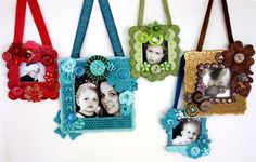 Picture frames.  Cute idea.