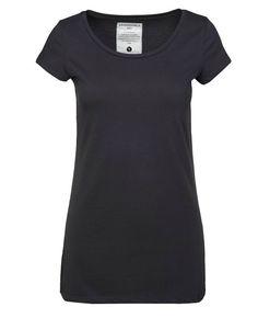 Armed Angels. Tummanharmaa jaaavistuksen läpikuultava lyhythihainen T-paita. Regular fit. Pyöreä pääntie. Pituus 68 cm.