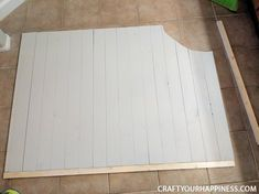 """If you have a tub or garden tub but are not a """"bathtub"""" kinda person this project might be for you! Cover it with this beautiful wood cover. It can be removed i… Bathtub Cover, Ikea Floor Lamp, Shower Curtain With Valance, Bar Stool Makeover, Wood Bathtub, Teal Pumpkin Project, Cinder Block Walls, Painting Shower, Brick Paneling"""