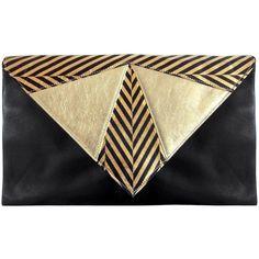 Jess Rizzuti Ella Envelope Chevron Clutch Bag (749.715 COP) ❤ liked on Polyvore featuring bags, handbags, clutches, bolsas, purses, bolsos, handbags crossbody, man bag, crossbody purse and handbags purses