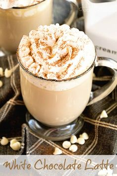 White Chocolate Latte Recipe ~ Delicious, Easy, Homemade White Chocolate Latte Recipe that Will Have You Sipping Lattes Whenever You Want! ~ http://www.julieseatsandtreats.com