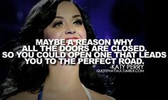 Relatable, inspiring Katy Perry quote.