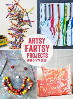 Artsy Fartsy Art Projects for Kids 3 to 5 Years Olds