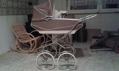 Puppenwagen aus den 60 igern, braun-beige, sehr guter Zustand