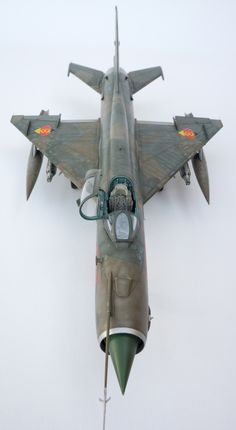 MiG-21 from Eduard; detailed with Aires cockpit and wheel wells
