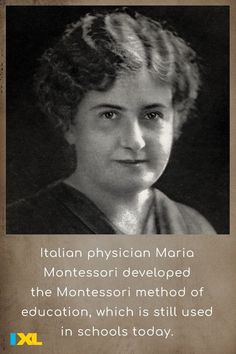 She opened the first Montessori school, Casa dei Bambini, in 1907! #TBT Maria Montessori, American Symbols, American History, Number Grid, Countries Of Asia, Primary And Secondary Sources, Branches Of Government, Major Holidays, School Today