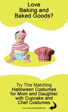 Looking for matching Halloween costumes for mom and baby daughter. Here's more than a dozen idea to help you out. Chef Costume, Mom Costumes, Matching Halloween Costumes, Baby Girl Halloween Costumes, Newborn Schedule, Baby Care Tips, Baby Development, Mom Advice, Survival Guide